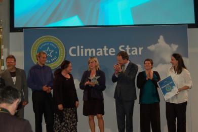 Předávání ceny Klimatická hvězda